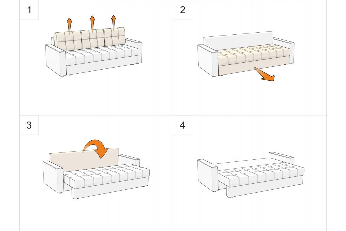диван еврокнижка диван амстердам искусственная кожа купить недорого